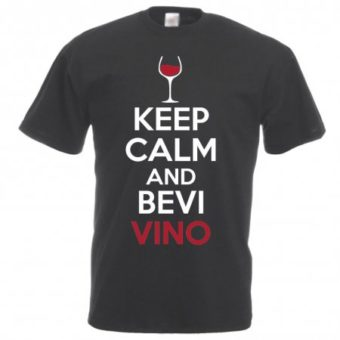 Maglietta Keep Calm and Bevi Vino