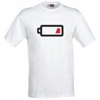 Maglietta Batteria Scarica