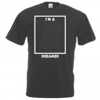 """Maglietta con scritta """"I'm A Dreamer"""""""