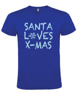T-shirt Natale - Santa Loves X-Mas
