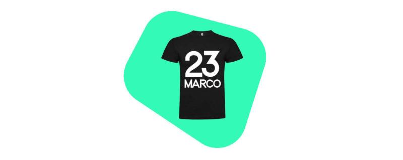 magliette personalizzate con numeri