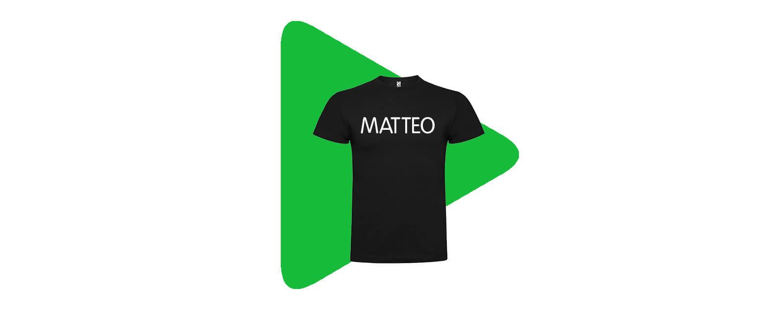 Maglietta personalizzata con nome